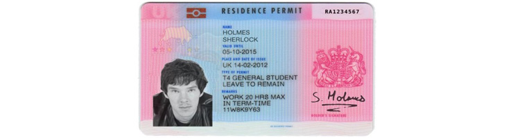 UK Settlement Visa biometric residence permit